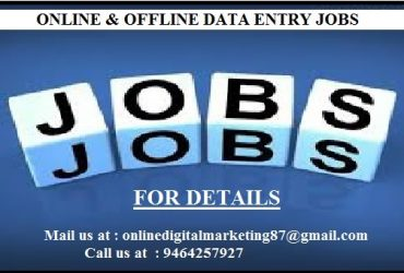 You Want Home Based Part Time Online, Offline Works