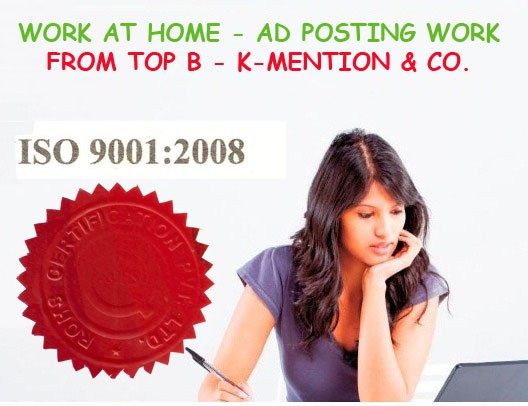 Work At Home - Franchisee Opportunity In K-Mention