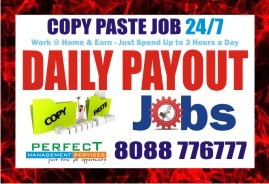 Data Copy Paste Job at Bangalore | Daily Payment  Rs. 200/- TO 400/-