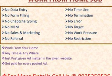 Part Time / Full time Ad Posting Jobs In Coimbatore To Earn Money From Your Home